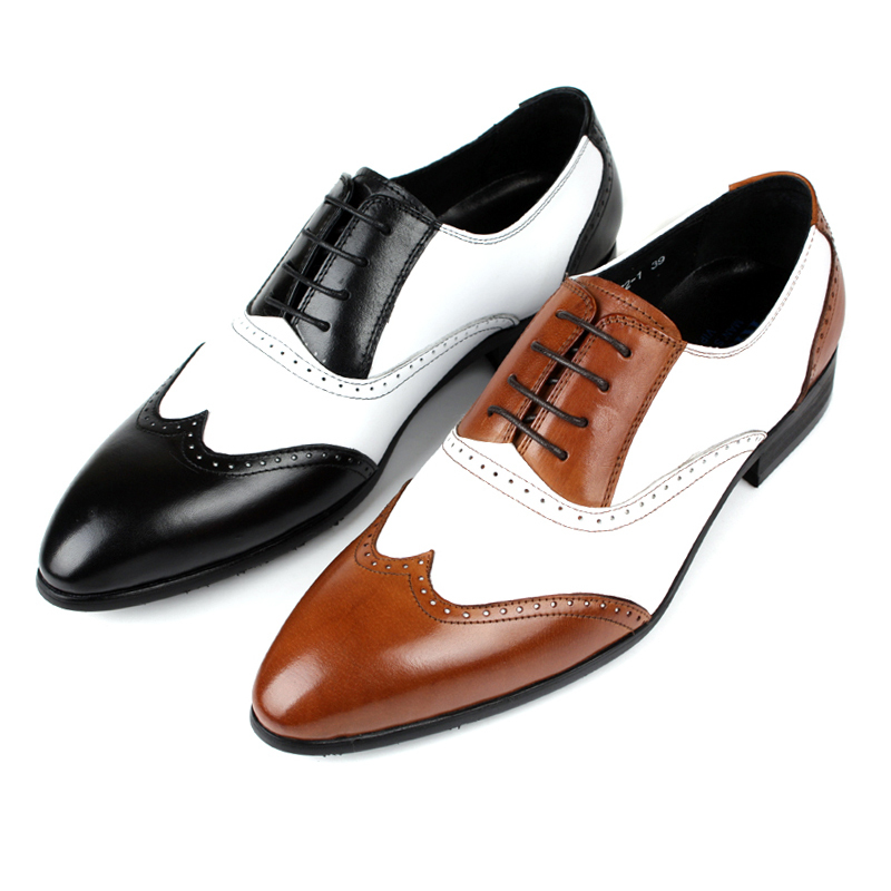 wholesale black oxford shoes mens dress shoes casual business shoes genuine leather formal. Black Bedroom Furniture Sets. Home Design Ideas