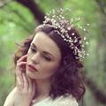 Faashion Wedding Hair Accessories Bridal Halo White Crown Headband Wedding Headpiece Girls Bridal Wreaths Tiaras