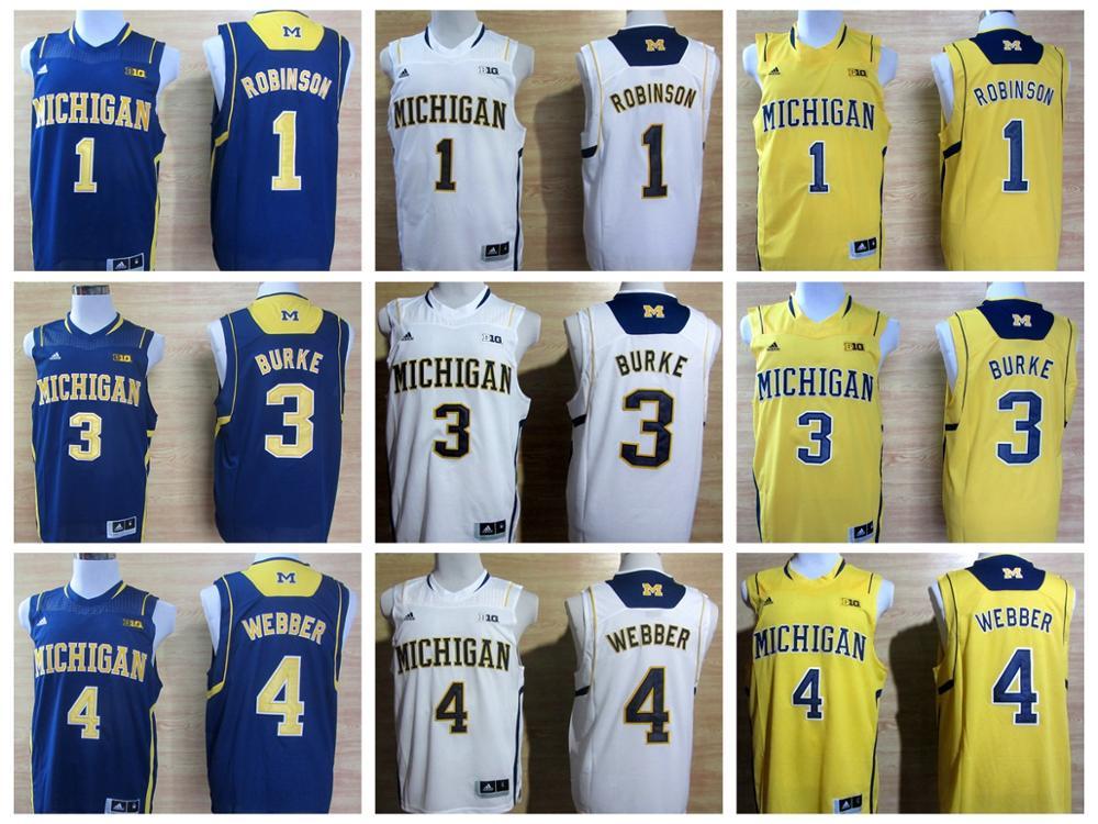 100% Stitiched,Michigan Wolverines,Glenn Robinson,Chirs Webber,Glenn Robinson III(China (Mainland))
