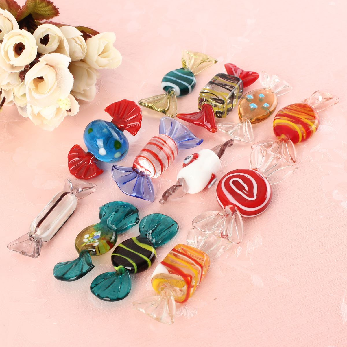12pcs/set Wholesale Price Vintage Glass Sweets Xmax Wedding Candy Christmas Ornaments Fit For Decorations Pattern Randomly(China (Mainland))