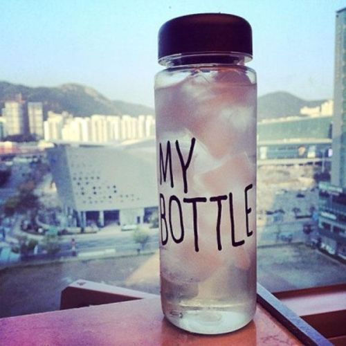 Hot Sale Fashion Portable Cup Clear My Bottle Sports Plastic Fruit Juice Water Cup Bottle(China (Mainland))