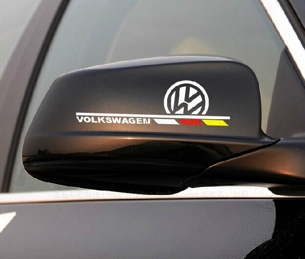 2015 Excellent New 3D M rearview mirror car Sticker Badge case for Volkswagen polo vw golf 4 passat b5 touran bora car styling<br><br>Aliexpress