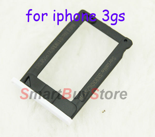 10pcs/lot Sim Card Tray Holder for iPhone 3G 3GS white and black colour free shipping(China (Mainland))