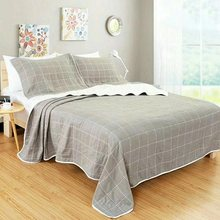 Plant Leaves Plaid 6 Layers Gauze Cotton Air Condition Summer Quilt Super Soft Bedding Blanket Throw Quilting for Adults Kids(China)
