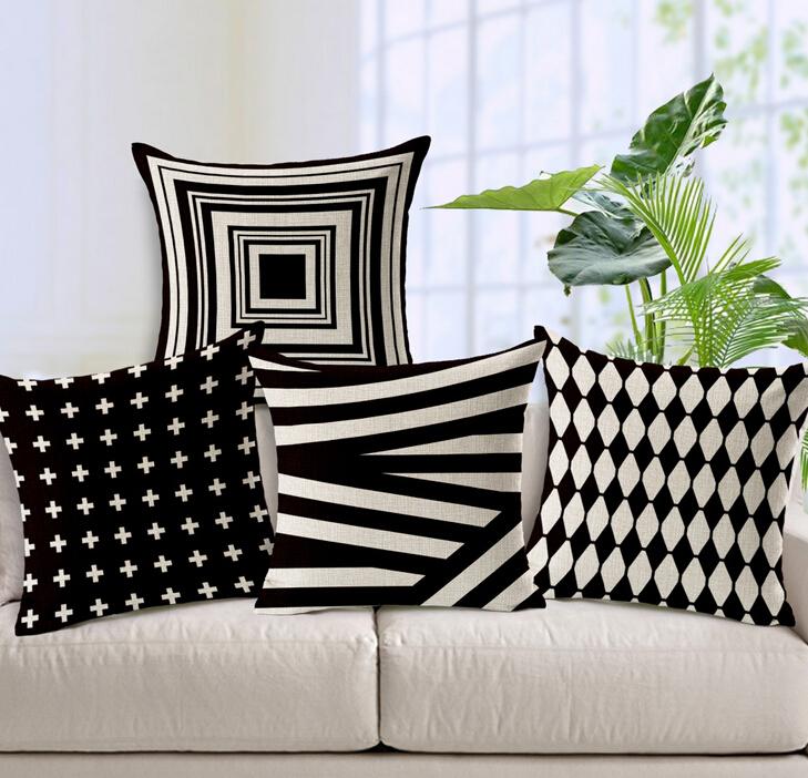 Luxury Cushion Cover Pillow Case Pillowcase Bed Car Hotel Printed White Geometric Home Decor Sofa Vintage Modern Cushion Covers(China (Mainland))