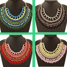 Small Gem Choker Necklace Big Brand Rhinestone Necklace ZA luxury Choker Necklaces RA luxury Collars Big Choker Necklace Jewelry(China (Mainland))