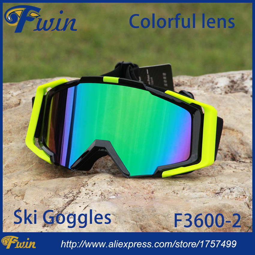 New style country cross Snow Snowboarding Glasses snow UV- Protection Multi-Color double anti-fog lens Snowboard Ski Goggle(China (Mainland))