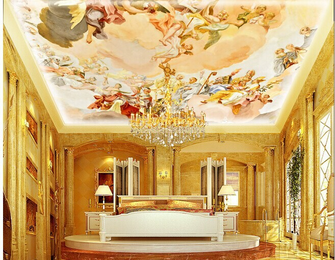 Xuan beautiful 3d zenith ceilings top ktv hotel bar for Ceiling mural in a smoker s lounge