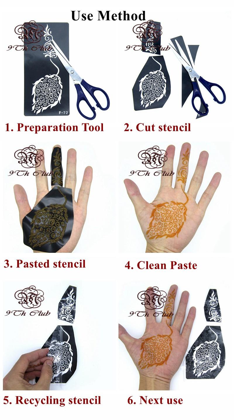 1 Dozen Golecha Henna Tattoo Paste Cream Colored Cones Indian