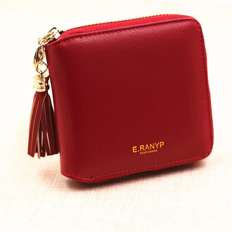 2016 New Women's Ladies Short Wallet Tassel Clutch Vintage Handbag Purse Card Holder Gift High Quality Free Shipping P324(China (Mainland))