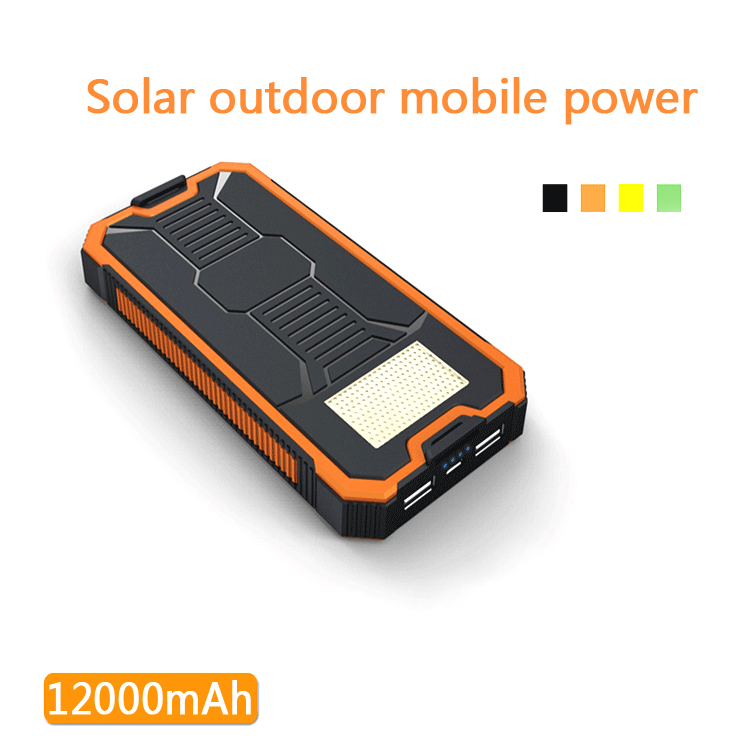 BYJY Solar Power Bank 12000mah with LED Flashlight Portable Dual USB External Battery Solar Charger Powerbank for iphone sansung(China (Mainland))