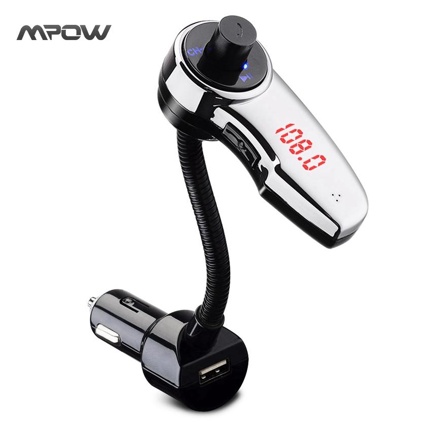 MBT9 Mpow Streambot Flex Wireless Car Stereo Bluetooth FM Transmitter Audio Receiver Radio Adapter for Speaker Handsfree Calling(China (Mainland))
