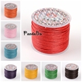 1mm 25m roll HOT Fashion Korean Wax Polyester Bead Cord String Cord Jewel Necklace Making Thread