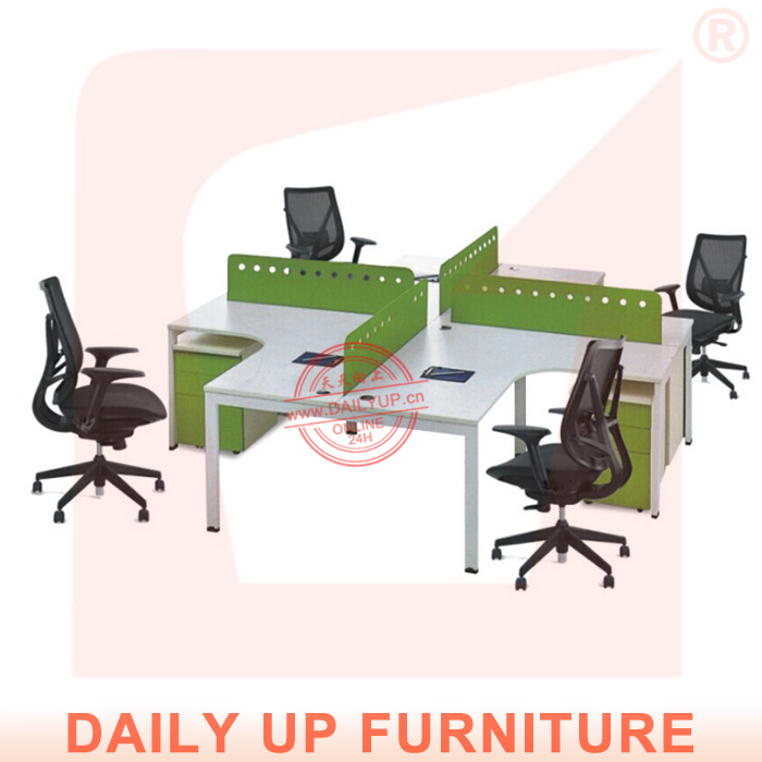 Executive Office Desk with 4 Partitions Division Office Furniture Table Designs 4 People Office Desk(China (Mainland))