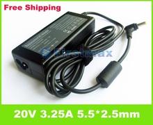 20V 3.25A 65W Laptop battery charger For Lenovo IdeaPad B460 B470 B480 B485 B570 B570e B575 B580 notebook power supply