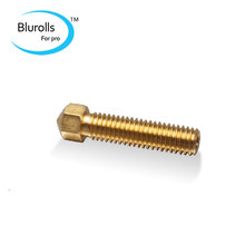 3D printer accessory/parts DIY all metal brass all-in-one nozzle 0.3/0.4 mm avaliable M6 threaded for 3mm fliament top quality