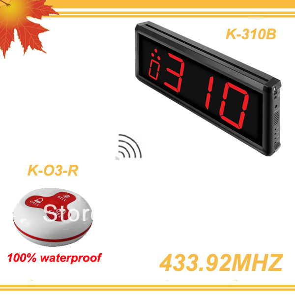 433.92MHZ QuickBell Chinese restaurant and western restaurant coffee bar, KTV nightclub wireless pager system K-310B-O3