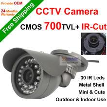 NGtechnic Hot promotion 700tvl CMOS 24ledsIR Outdoor & indoor CCTV Bullet Camera Security camera IR-Cut