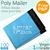 [Virgin Grade] 17*20 cm - 6.7*7.87 inch, Plastic Mailers Bag, Blue Poly Posting Courier Envelope, Premium Quality- 100PCS Blue