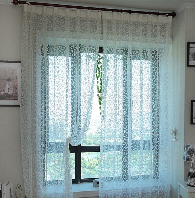 buy luxury curtains living room pink lace cortinas tulle. Black Bedroom Furniture Sets. Home Design Ideas