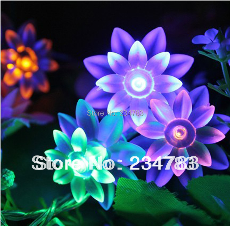 5M 40 LED Christmas Light String Battery Operated Indoor Fairy Lights RGB Lotus Flower Party Xmas - Wishled Tech store