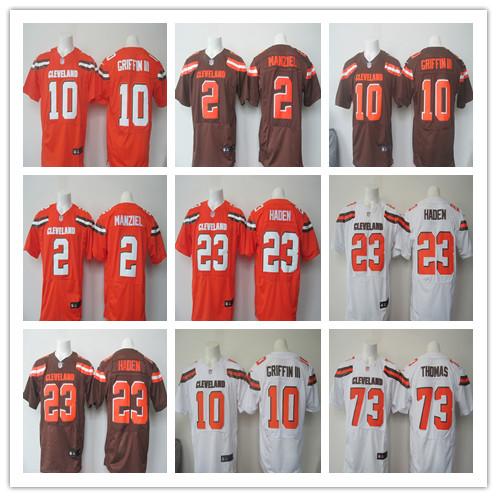 100% Stitiched,Cleveland Browns,Johnny Manziel,Joe Haden,Joe Thomas,Robert Griffin III(China (Mainland))