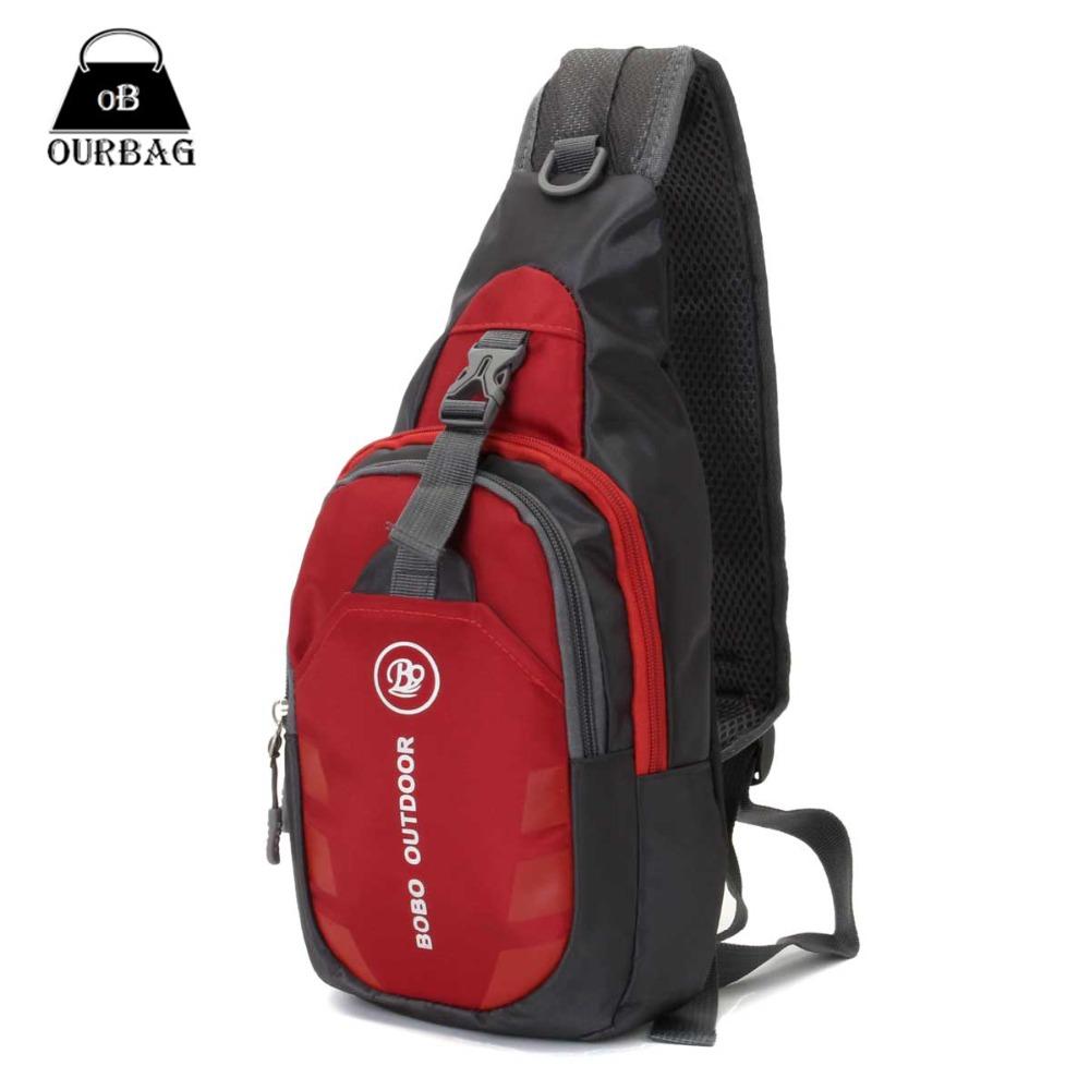 Unisex Nylon Chest Back Pack Outdoor Hiking Sport Crossbody Shoulder Bag Men Women Diagonal Package Rucksacks