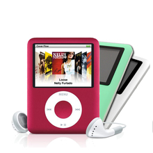 "NEW STYLE BEST SALE 8GB 1.8"" 3TH FM MP3 PLAYERS FM Raido EBOOK MUSIC Mini Light PLAYER 6 Colors(China (Mainland))"