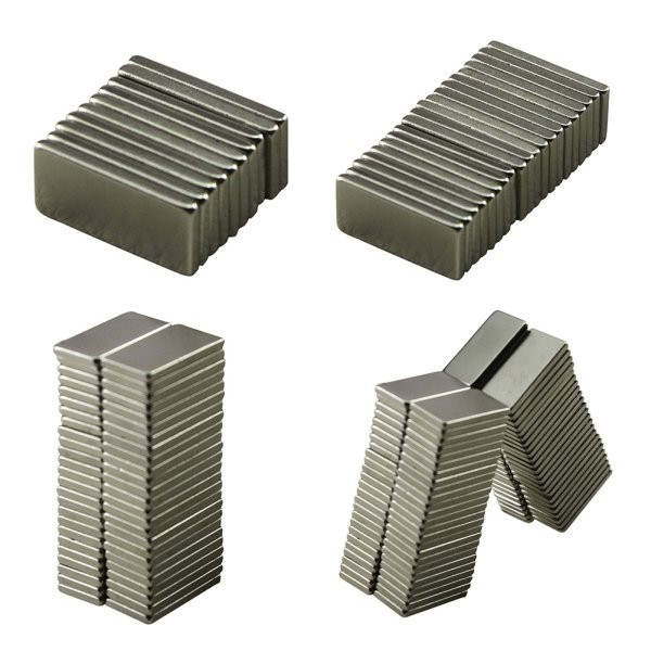 10pcs 20x10x2 mm Strong Block Cuboid Fridge Magnets Rare Earth Neodymium Bulk Sheet Mini Small Disc Magnetic Materials Home