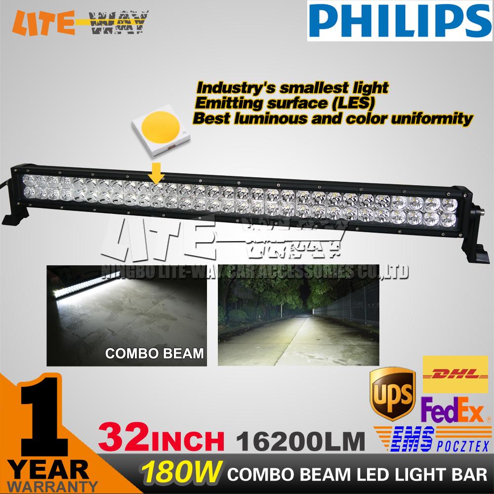 180W LED Light Bar for Automotive lighting 32 Inch Work Driving Bar for Car Truck 4x4 SUV ATV Off Road Fog Lamp 12V 24V(China (Mainland))