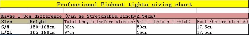 Professional fishnet tights sizing chart-1