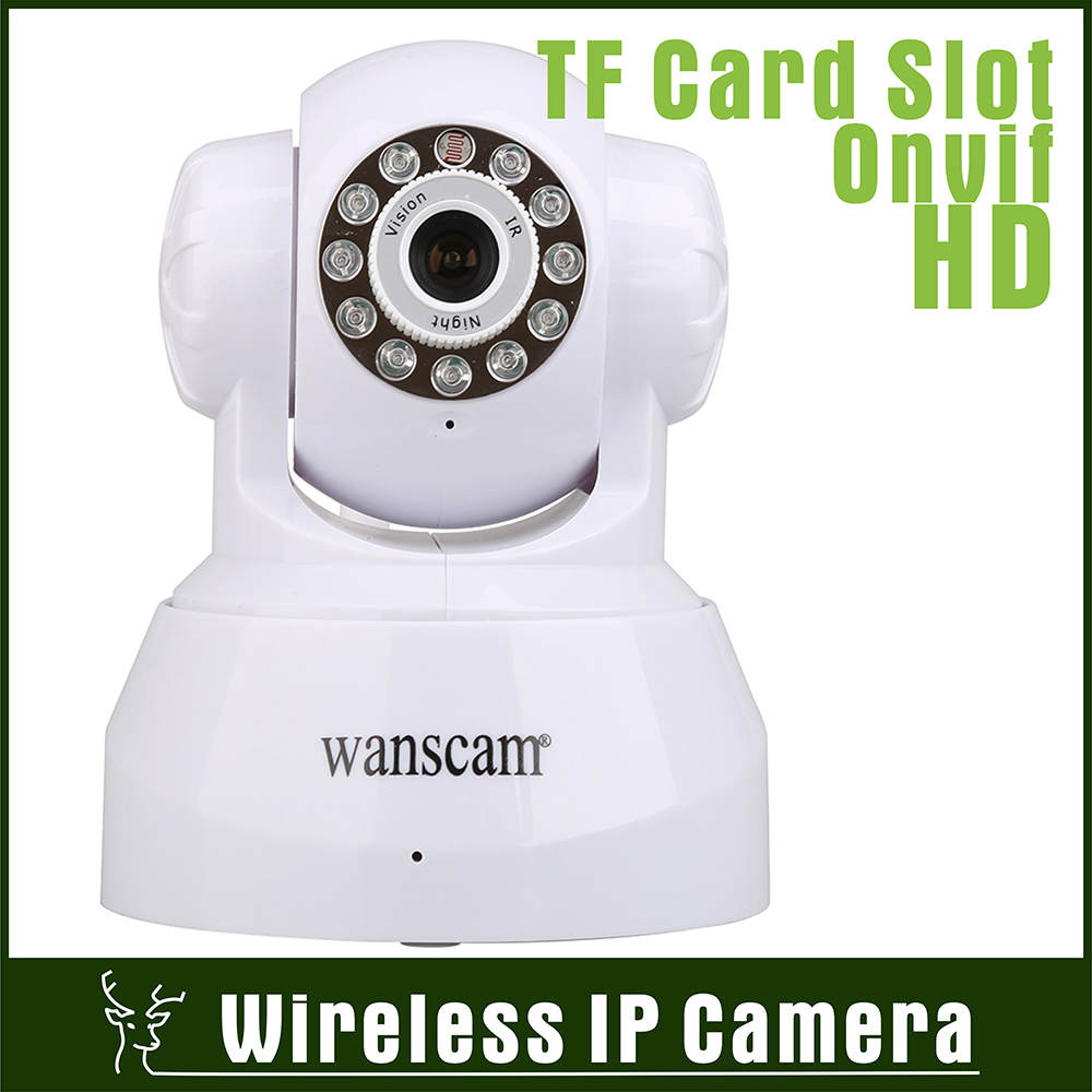 Indoor TF Card Megapixels Onvif Wireless Wifi IP Camera HD IR Night Vision Two Way Audio PT Network Camera P2P H.264 Camera 720P(China (Mainland))
