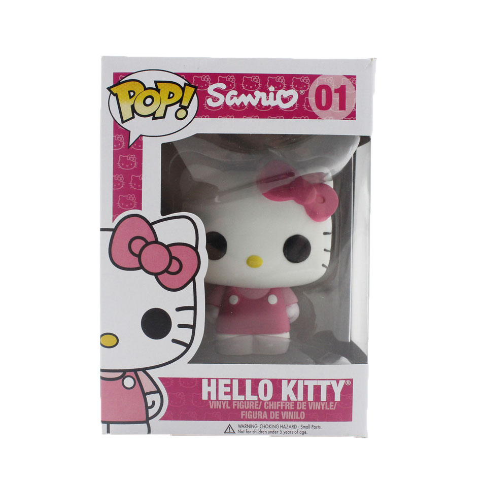 Funko Pop Hello Kitty 16cm PVC Anime Hot Movie Vinyl Movable head Cute Action Figure Collection Kid's Birthday Gifts Toys 0909(China (Mainland))