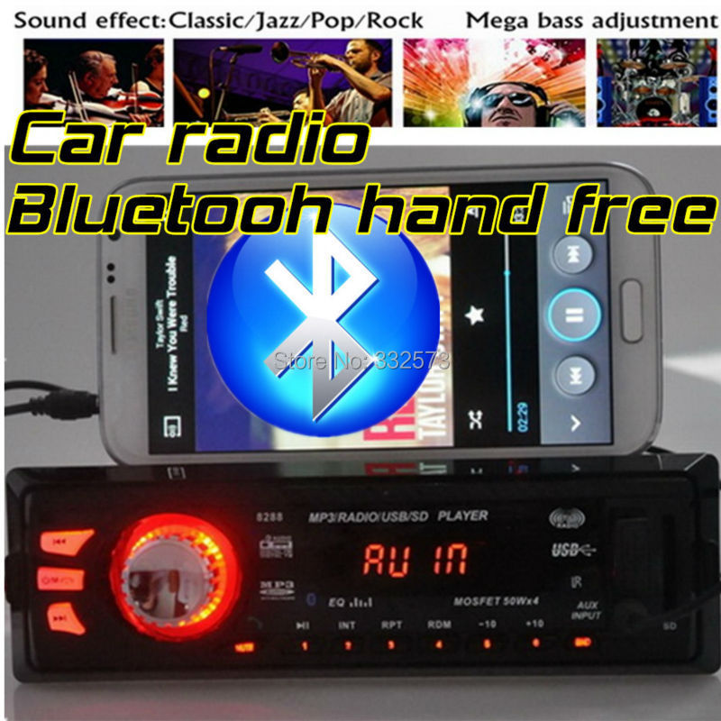 2015 New 12V Car radio FM Radio MP3 Audio Player Bluetooth function Phone hand free USB/SD card MMC aux-in audio In-Dash 1 DIN(China (Mainland))