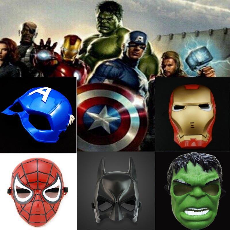 2016 New Light mask Marvel's The Avengers light shield cartoon mask Spider Man Iron Man green giant Free Shipping(China (Mainland))