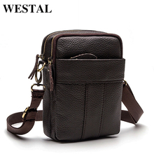 Buy WESTAL Genuine Leather Bag Men Messenger Bags Cell Phone Pocket Travel Shoulder Crossbody Bags Business Small Male Bag Bolsa for $14.09 in AliExpress store