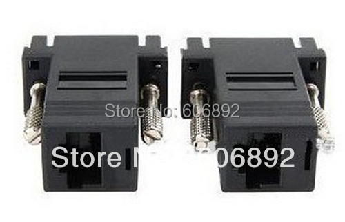 Free Shipping 5pcs VGA Extender Male to LAN CAT5 CAT6 RJ45 Network Cable Female Adapter Kit(China (Mainland))