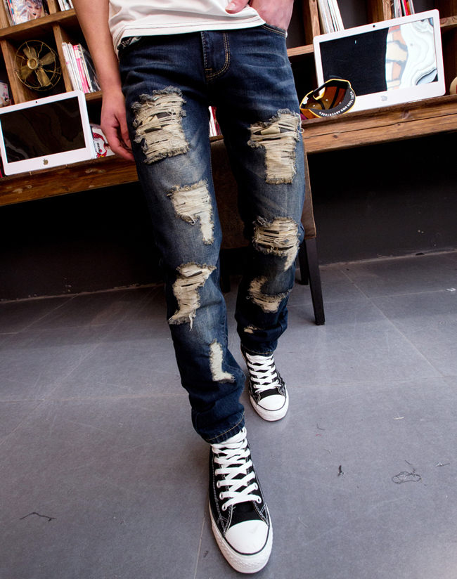 jeans distressed Picture - More Detailed Picture about men&39s jeans