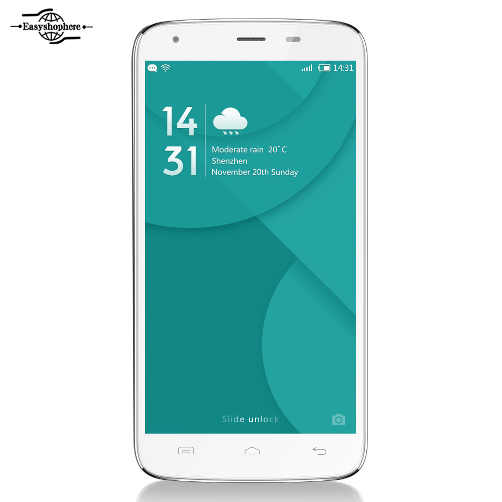 """Brand New 4G Octa Core Doogee T6 Pro Mobile Phone 3GB 32GB 6250mAh 5.5"""" Android 6.0 Smartphone MT6753 Cellphone 13MP Black White(China (Mainland))"""