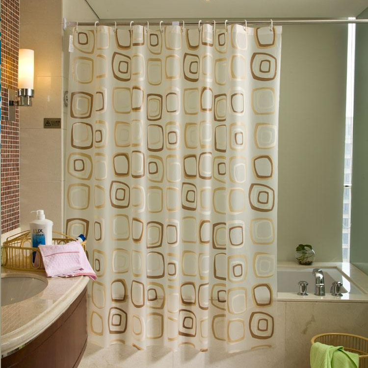 At Home Bathroom Shower Curtain Plastic Waterproof Shower
