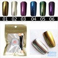 New 1g/Box Gold Sliver 2 Colors Mirror Glitter Powder For Nails Shinning Dust Nail Art DIY Chrome Pigment Nail Decoration Tools