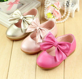 spring and autumn baby shoes leather single shoes girl Leather Shoes