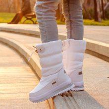 Mùa Đông 2019 Nền Tảng Giày Bốt Nữ Trẻ Em Cao Su Chống Trơn Trượt Ủng Giày Cho Wome Chống Nước Ấm Áp Mùa Đông Giày Botas(China)