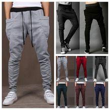 Mens Joggers New Style Fashion 2015 Casual Skinny Joggers Sweatpants Drop Crotch Jogging Harem Pants Men Boys Joggers Sarouel