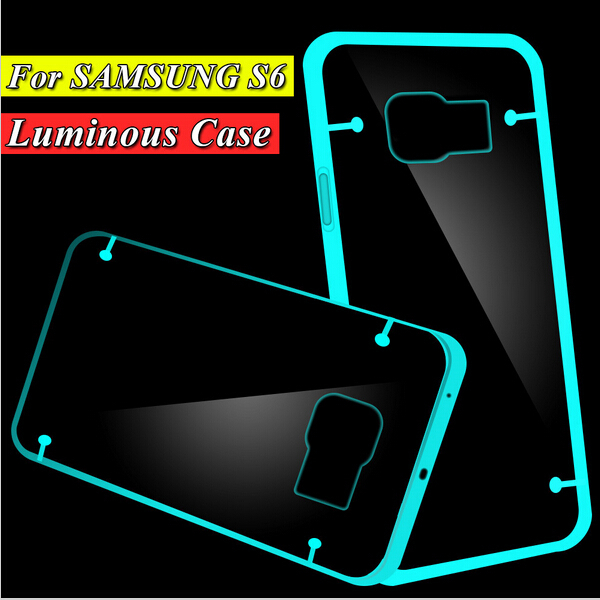 S6 Capa Shell Cute Luminous Noctilucent Soft Case For Samsung Galaxy S6 G9200 G920 G925F Glow in the Dark Phone Back Cover(China (Mainland))