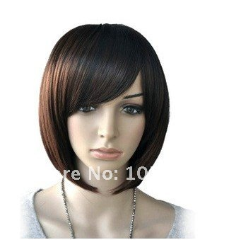 Lady's Fashion Cheap Synthetic Hair Lace Full Short Bob Wig Cospaly Consume Wigs Black African American Women - H&C Store store