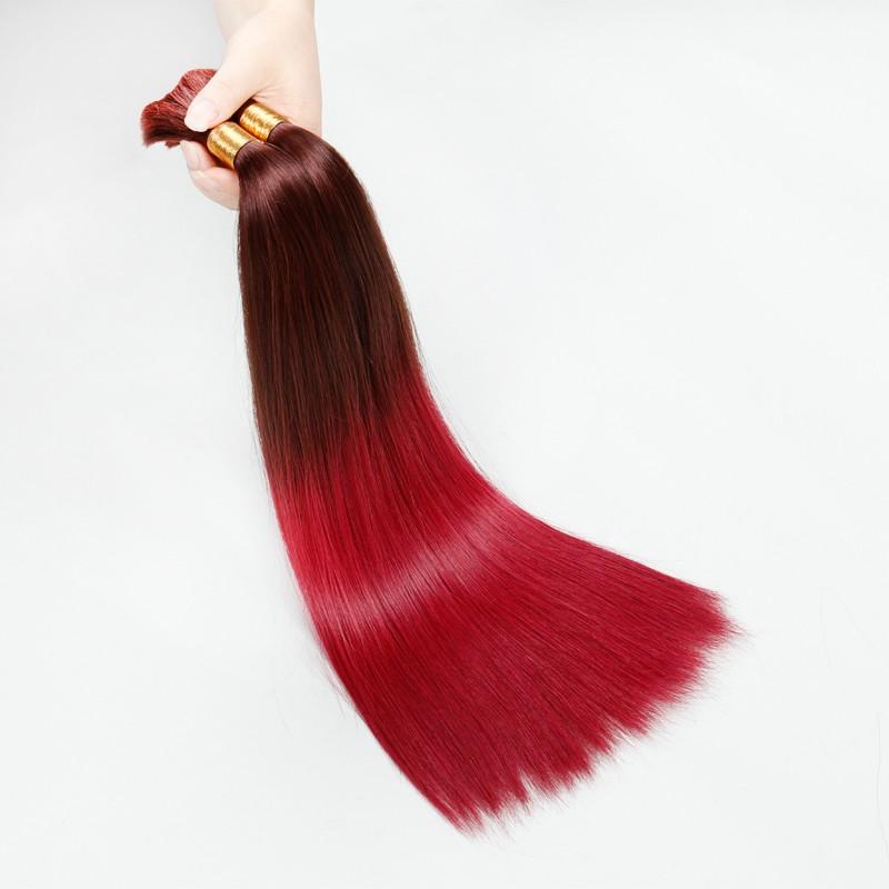 Sleek 10A Human Braiding Hair Bulk, T32/530 Brazilian Girls Virgin Hair Straight, Ombre Human Hair, 2PCS/Lot, Free Shipping