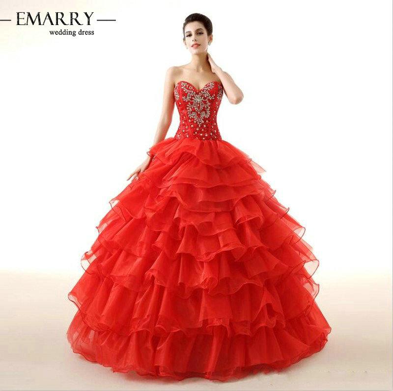 Zz95 элегантный милая рукавов пышное платье 2016 кристалл узелок с плеча пышное платье