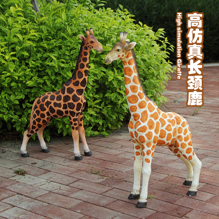Crafts Giraffe Sculpture Garden Ornaments Simulation