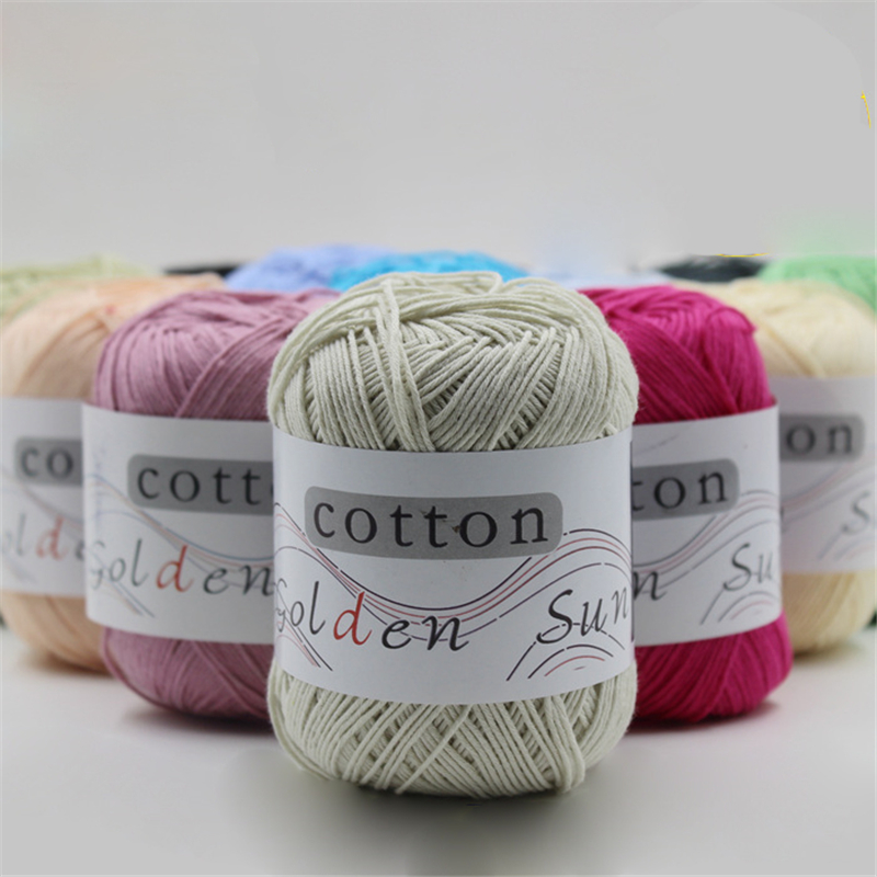 100% Cotton Knitting Yarn Crochet Yarn for Knitting Anti Pilling 500g ...